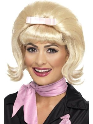 43229 - 50s Flicked Beehive Wig, Blonde