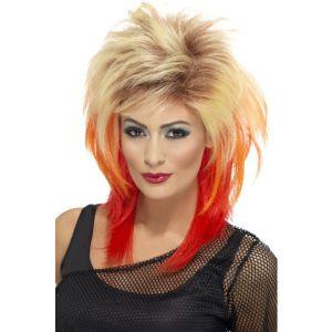 43245 - 80\'S Mullet Wig,Blonde