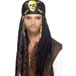 43273 - Pirate Dreadlocks Wig,Black