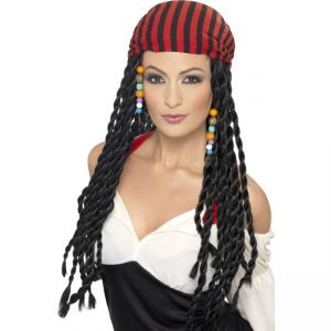 43287 - Pirate Wig,Black