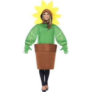 43409 - Sunflower Costume, With Top With Attached Hood