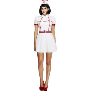 43490 - Fever Bed Side Nurse Costume, With Dress