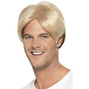 43674 - 90\'s Boyband;Footballer Curtain Wig