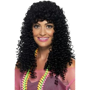 43688 - 80\'s Wet Look Pop Star Wig, Tight Curls