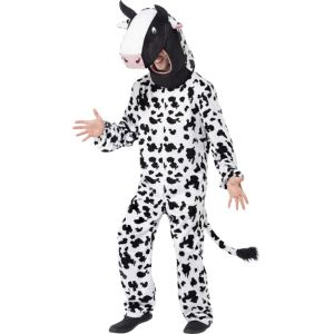 43810 - Cow Costume, Black & White, With Bodysuit And Hood