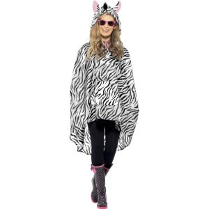 43893 - Zebra Party Poncho