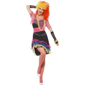 43931 - 80\'s Fun Girl Costume, With Dress, Top And Belt