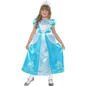 44028 - Rags To Riches Princess Costume, Blue, With Dress