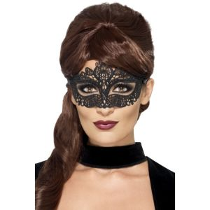 44282 - Embroidered Lace Filigree Eyemask