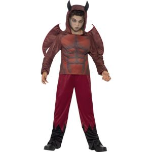 44295 - Deluxe Devil Costume, Top With Horned Hood