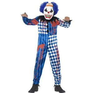 44327 - Deluxe Sinister Clown Costume, With Jumpsuit