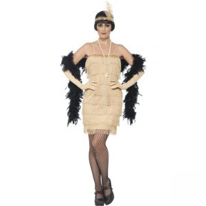44678 - Flapper Costume, Gold