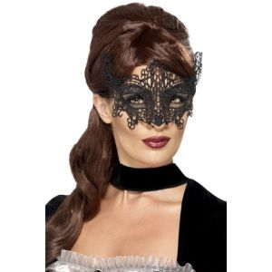 45227 - Embroidered Lace Filigree Swirl Eyemask