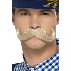 45401 - Authentic Oktoberfest Moustache, Blonde, Self Adhesive
