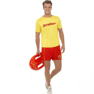 Baywatch Men's Beach Costume, With Top and Shorts