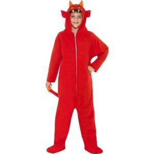 55011 - Devil Costume, Red, All In One With Hood