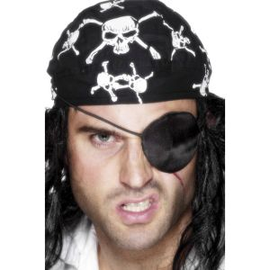 613 - Deluxe Pirate Eyepatch, Black
