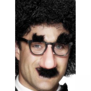 8276 - Groucho Specs, Black, With Nose, Tash And Brows, 12