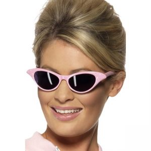99022 - Flyaway Style Rock And Roll Sunglasses, Pink