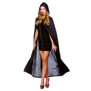 Cape With Hood - Black
