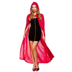 Cape With Hood - Red