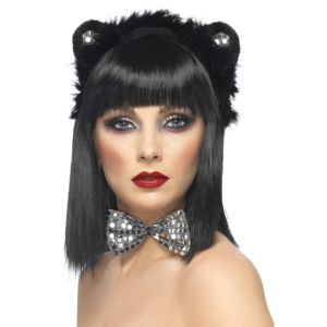 Cat Set - Black & Silver Bowtie