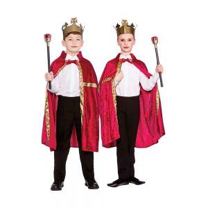 Deluxe Velvet Robe & Crown, Red