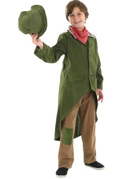 Dickensian Boy - Trousers, Jacket With Tails, Neck Tie & Hat