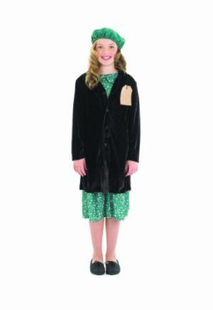 Evacuee School Girl - Dress, Coat & Beret