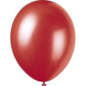 Flame Red 12 Inches Pearlised Premium Balloon