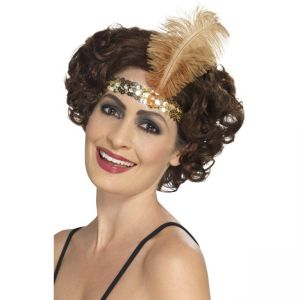 Flapper Headband, Gold