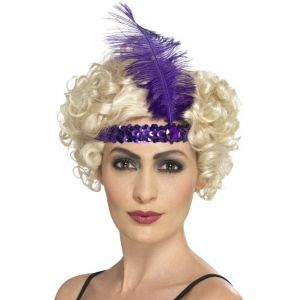 Flapper Headband, Purple
