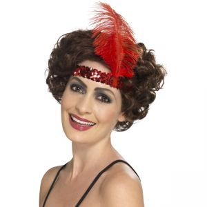 Flapper Headband, Red