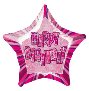 Happy Birthday Pink Foil