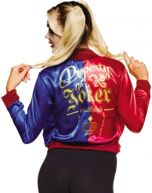 Harley Quinn Jacket With Attached Shirt (back)
