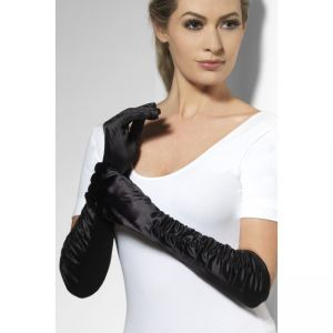 Long Black Tempress Gloves