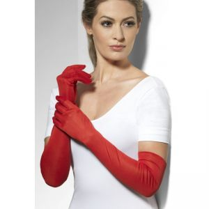 Long Gloves - Red