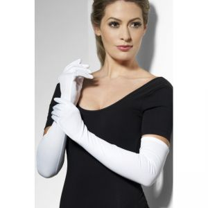 Long Gloves - White