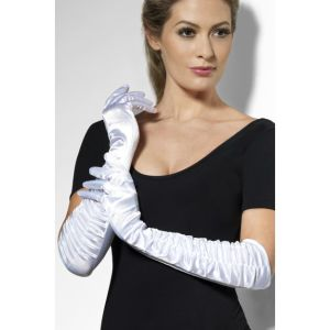 Long White Temptress Gloves