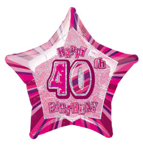 PinkHappyBdayForty POP
