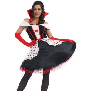 Queen Of Hearts - Longer Length Petticoat Dress, Gloves & Hold Ups