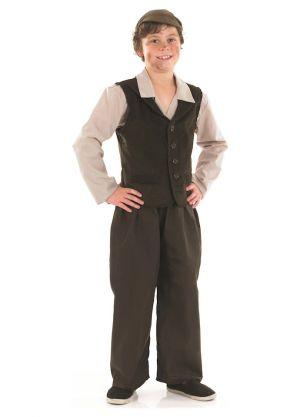 Urchin Boy - Waiscoat, Trousers, Shirt & Cap